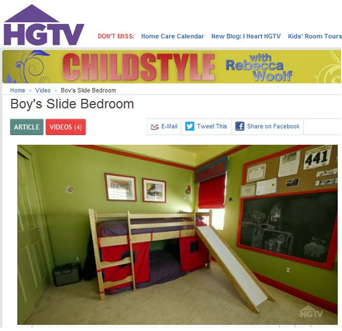 HGTV ChildStyle Boy's Bedroom