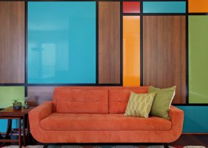 Aliso Viejo Mid-Century Modern feature wall