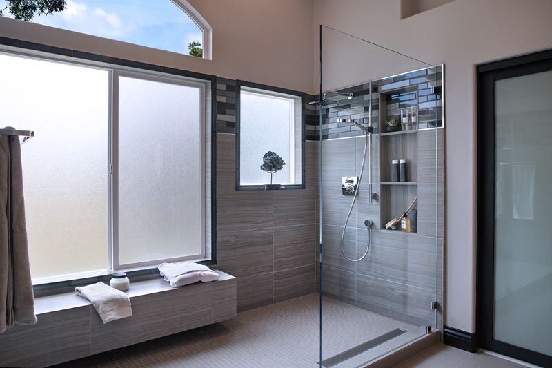 San Clemente Contemporary Master Bath shower