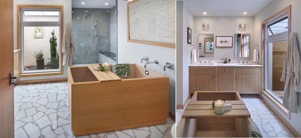San Clemente master bath interior design