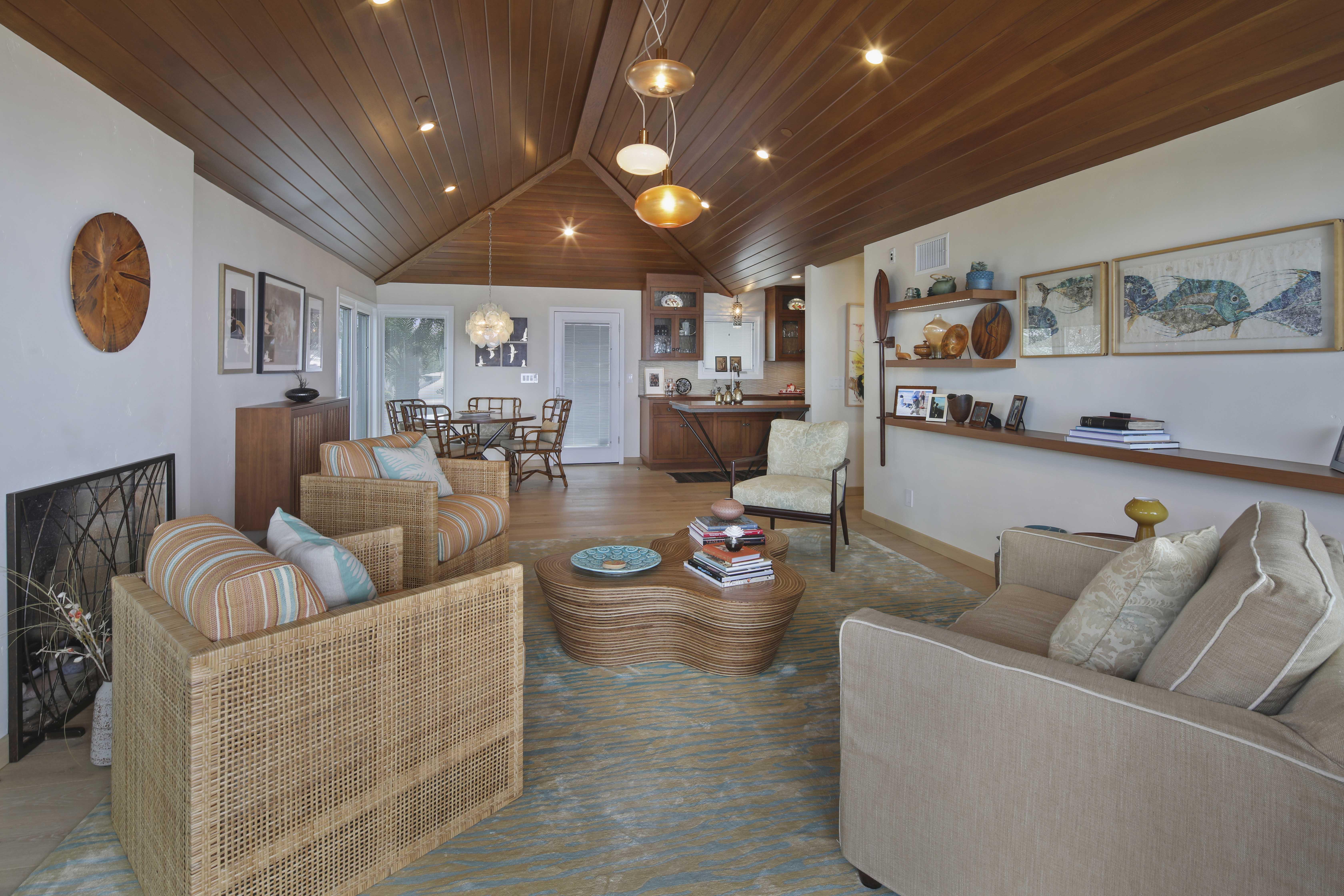 Orange County San Clemente Interior Design Library & Nook