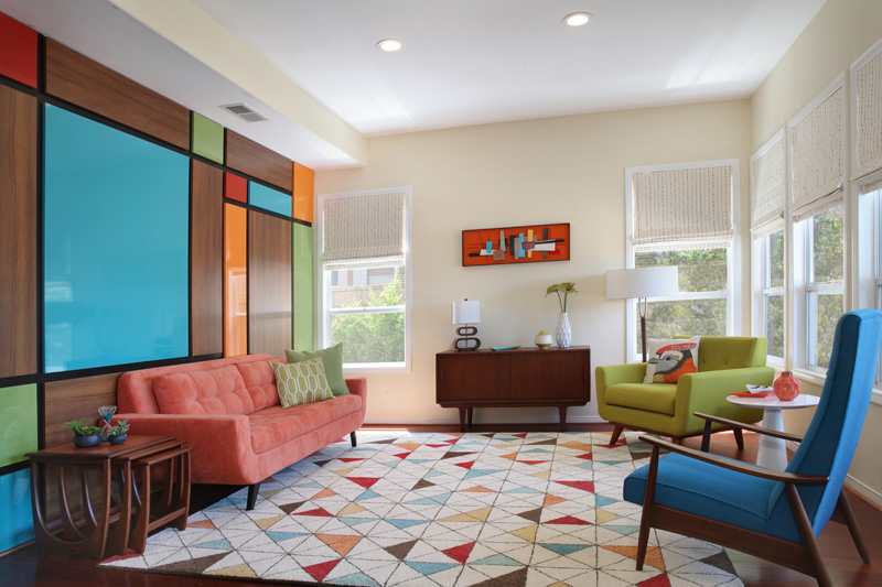 Aliso Viejo Mid-Century Modern Living Room