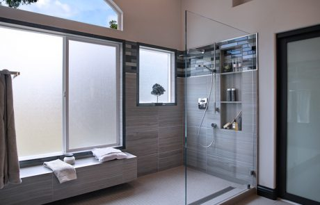 San Clemente Contemporary Master Bath shower