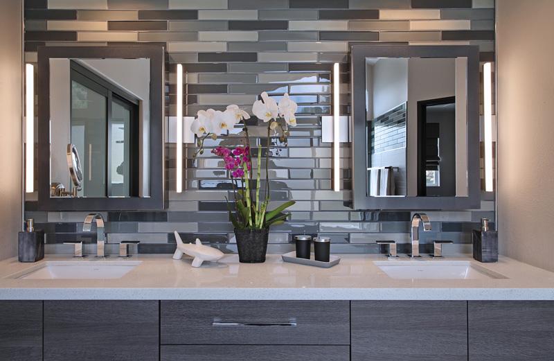 San Clemente Contemporary Master Bath vanity