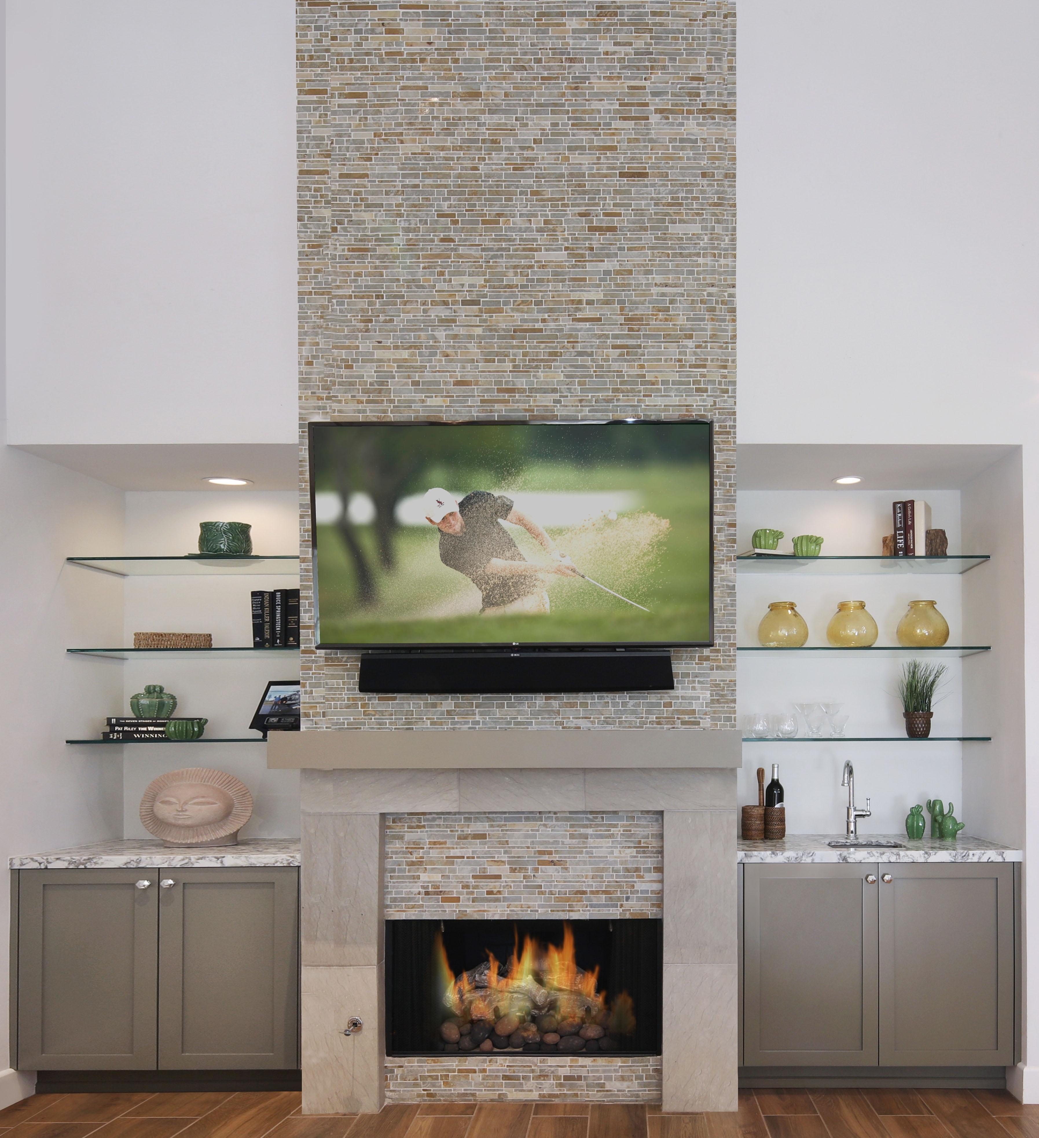 Palm Desert Living Room Fireplace