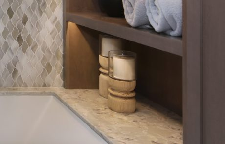 Palm Desert Master Bathroom Shelves