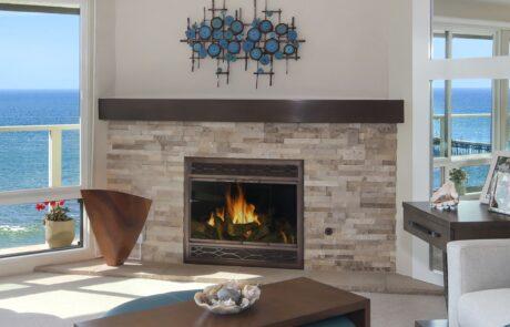 Fireplace Living Room San Clemente Beach House