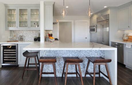 Contemporary gray kitchen Laguna Niguel