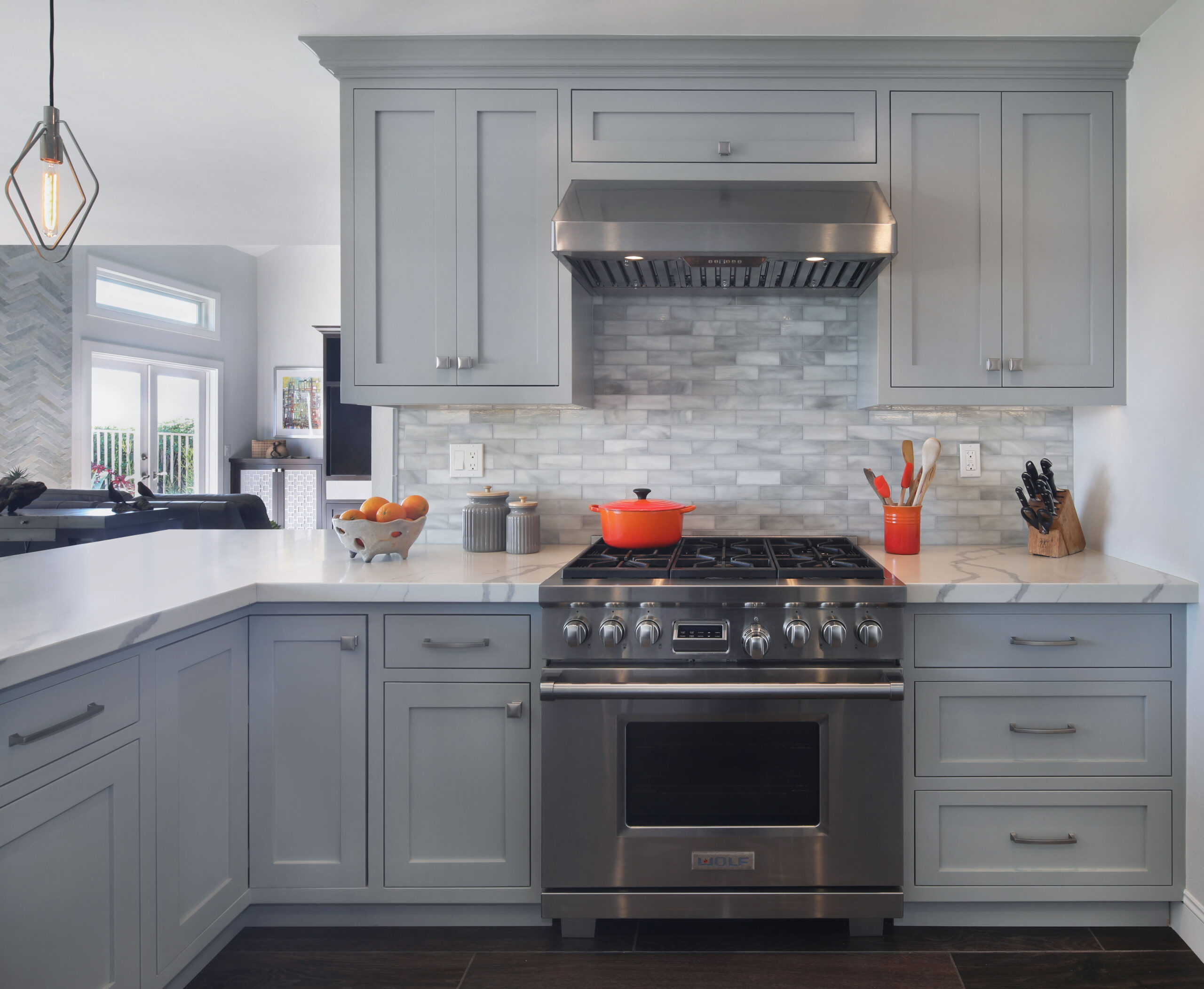 Contemporary kitchen in gray