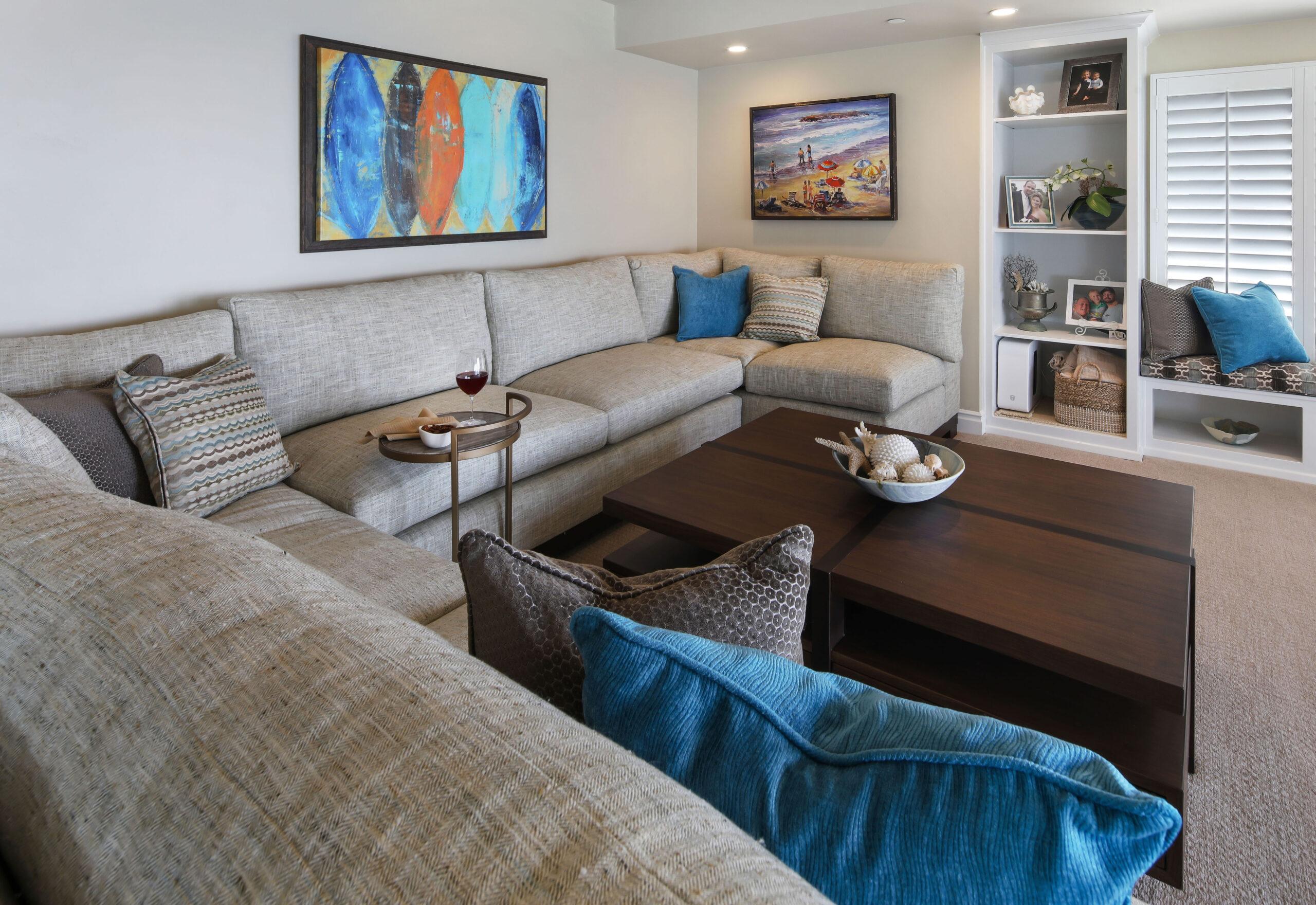 San Clemente Beach House Family Room